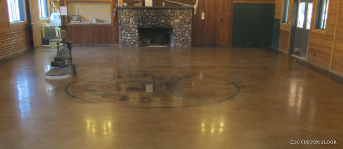 Concrete Staining, Coloring and Logos | EDC Custom Install Solutions